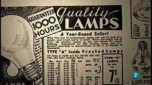 Anuncio de bombillas de 1940