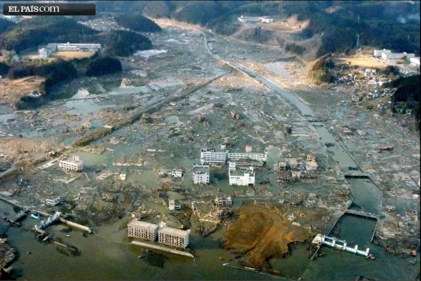 La ciudad de Minami Sanriku, asolada